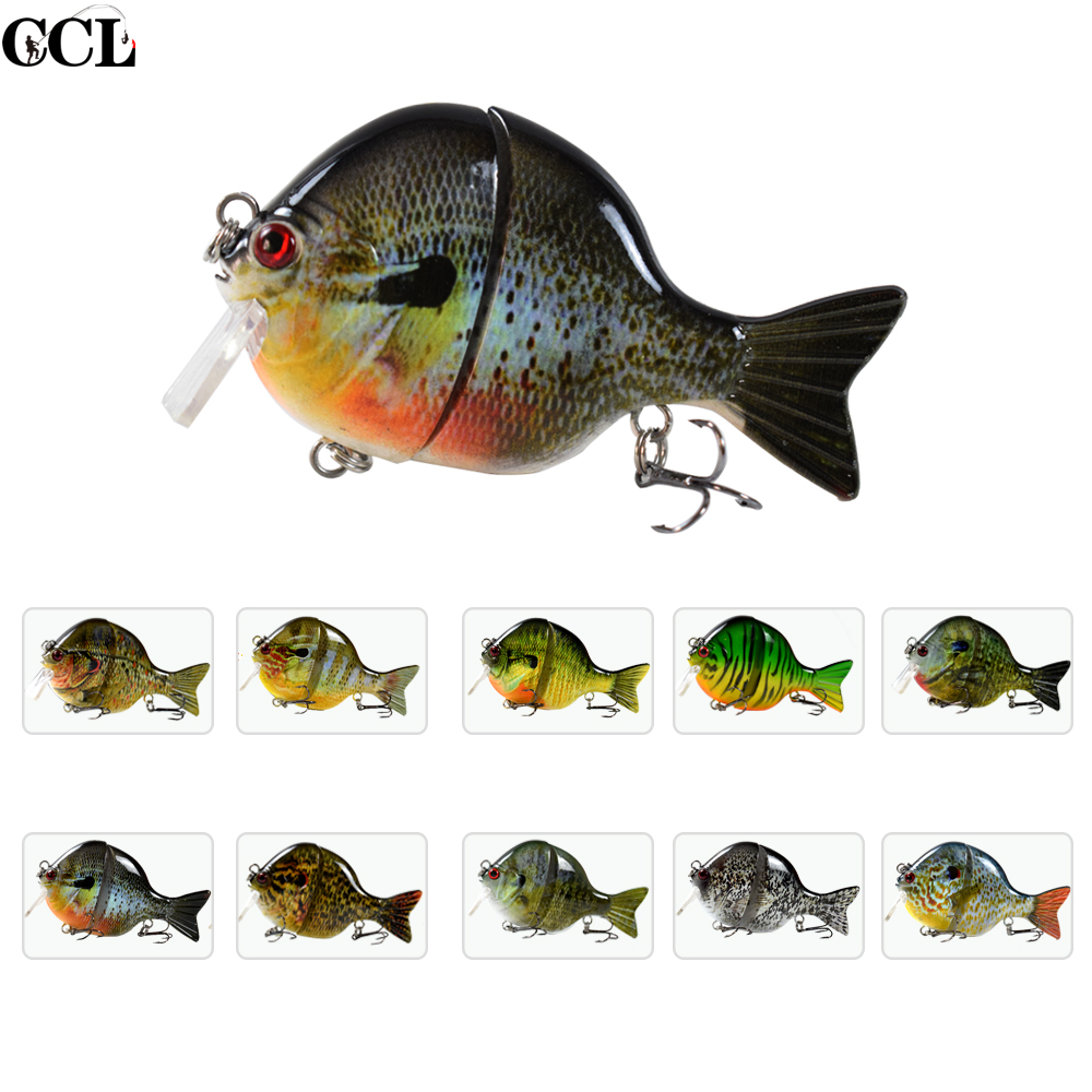 High Quality Bass Fishing Lures Square Bill Floating Swimbait Bluegill Lure 3.5inch 32g New Jointed Baitfish Fishing