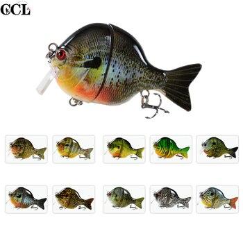Высокое качество, приманки для ловли басов, квадратная плавающая приманка для плавания, приманка Bluegill, 3,5 дюйма, 32 г, новинка, соединенная при...