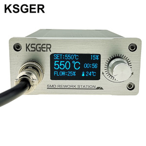 Image 3 - KSGER Hot Air Gun SMD Rework Station GX16 8 Solder Dryer Handle Electronic OLED T12 Nozzle Stand DIY Tools Quick Heating 700W