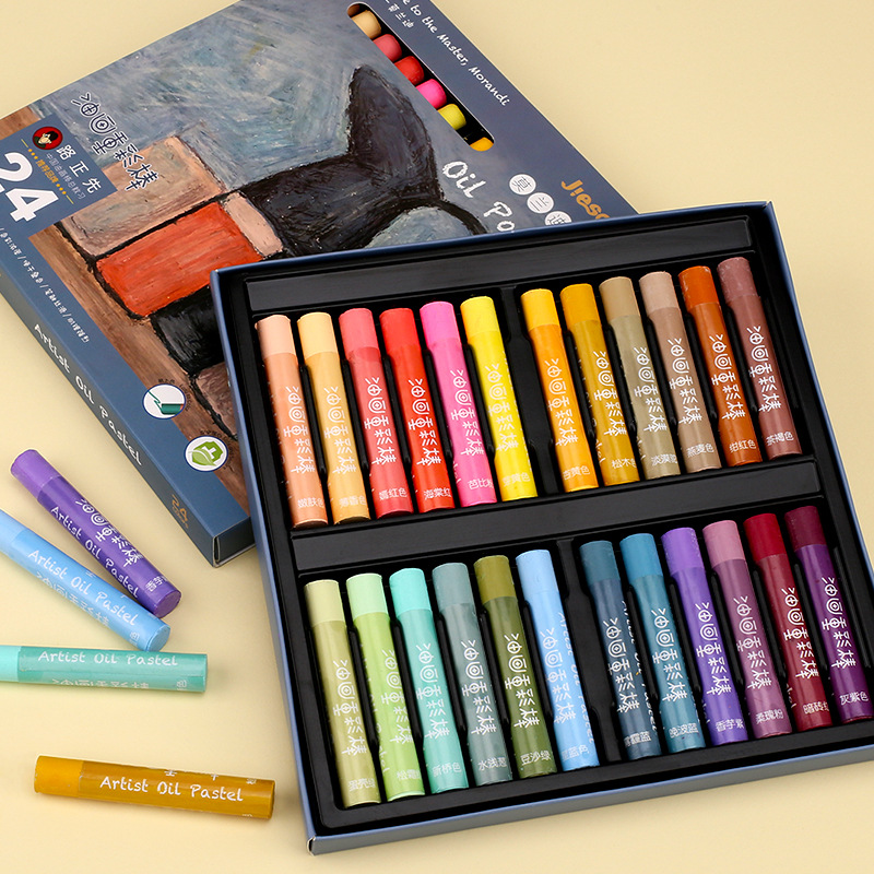 12/24/36 Colors Heavy Colorful Oil Pastel Crayon Stick For Children Painting School Supplies Stationery|Oil Pastel|   - title=