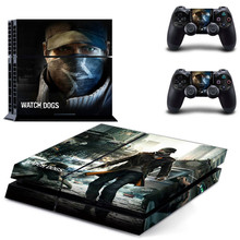 Watch Dogs PS 4 Sticker Play station 4 Stickers PS4 Skin Decal Pegatinas Adesivo For PlayStation 4 console and controller