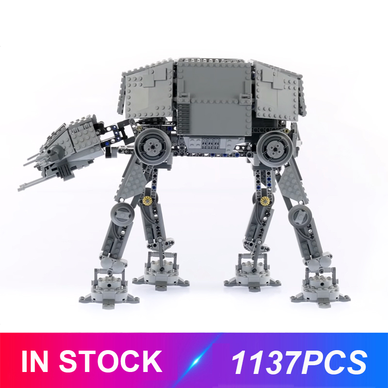 New Lepinblocks 05050 Motorised Walking AT-AT Compatible Star Plan 10178 Building Bricks Educational Toys Birthdays Gifts