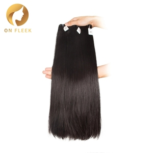 Brazilian double drawn remy Hair Straight Weave Bundles Hair Extension Natural Color 10 inch-22 inch Free Shipping On Fleek