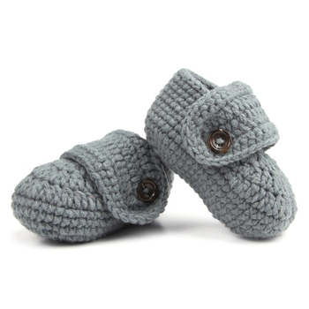 1 Pair Cute Comfortable Infants Toddlers Baby Soft Crochet Knit Crib Shoes Walk Socks Top Quality image