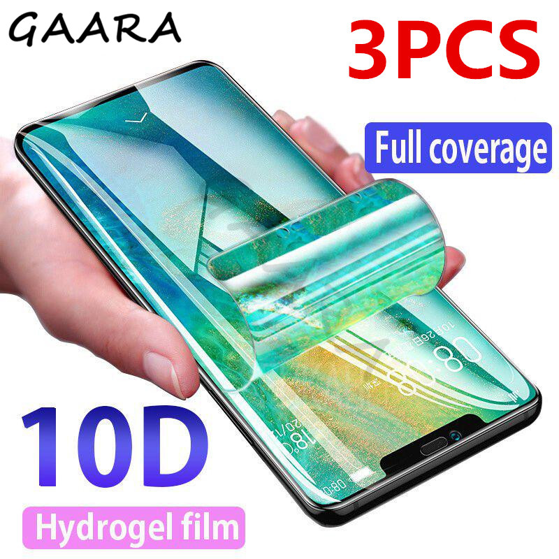 3PCS Hydrogel Film For LG G5 G6 G7 G8 Film 10D Clear Full Cover Screen Protector For LG V20 V30 V40 V50 Soft Transparent Films