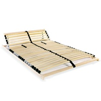 vidaXL Slatted Bed Base with 28 Slats 7 Zones 120x200 cm FSC