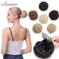 S-noilite pince à Chignon bouclé 65g en postiche Extension beignet Chignon cheveux Chignon pour femmes fibre synthétique haute température