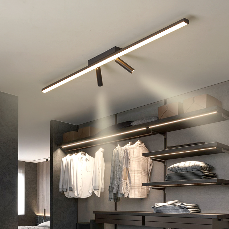 Simple Black Modern LED Ceiling Lights for Bedroom Living room Aisle Cloakroom Balcony Kitchen AC90-260V Ceiling Lamp Lighting