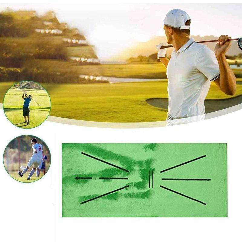 Тренировочный Коврик для игры в гольф, устройство для обнаружения качелей, для обучения мини-гольфа, для дома, офиса, улицы, подарок