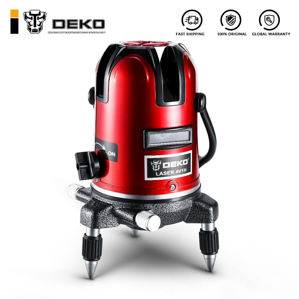 DEKO LL5 Series 5 Line Red Laser Level Self leveling AA/Li ion Battery Horizontal&Vertical 360 Degree Adjustment Accurate Laser|Laser Levels|   - AliExpress