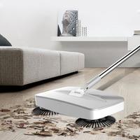 Mão push sweeper 2 em 1 varredor mop com rampa de lixo limpeza doméstica 360 graus mão empurrar vassoura automática Vassoura manual Casa e Jardim -