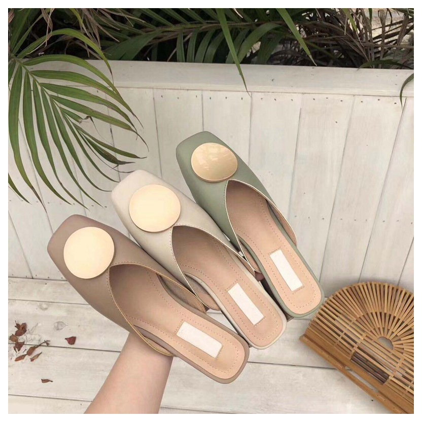 2019 Summer Fashion Women Pointed Toe Slipper  Ladies Slides Luxury Brand Beach Mules Shoes