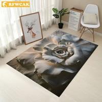 RFWCAK 3D Personal Creative Carpet Europe Carpet Bedroom Door Mat Bathroom Non-slip Living Room Carpet Kitchen Water Absorption