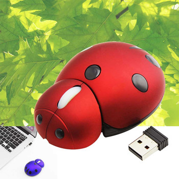 Portable Mini Mouse 2.4Ghz Wireless Mouse 1200DPI Cute Lady bug Creative Design Animal Ladybug Mice PC Gamer Computer Mause