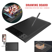 10*6 inches Digital Graphic Tablet Drawing Writing Pad with Pen Quick Reading USB Interface Support For Mobile / Tablet / Laptop