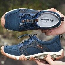 Мужская прогулочная обувь из свиной кожи для пеших прогулок; осенние спортивные кроссовки; большие размеры 38-46; Мужская обувь для альпинизма; резиновые кроссовки