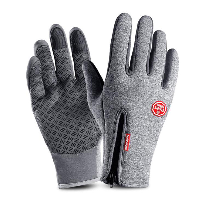 <font><b>Winter</b></font> Voller Finger Touch Screen Radfahren Ski Handschuhe Warm Bike Sport Handschuhe Motorrad Schnee <font><b>Windstopper</b></font> Slicone Anti-slip Handschuhe image