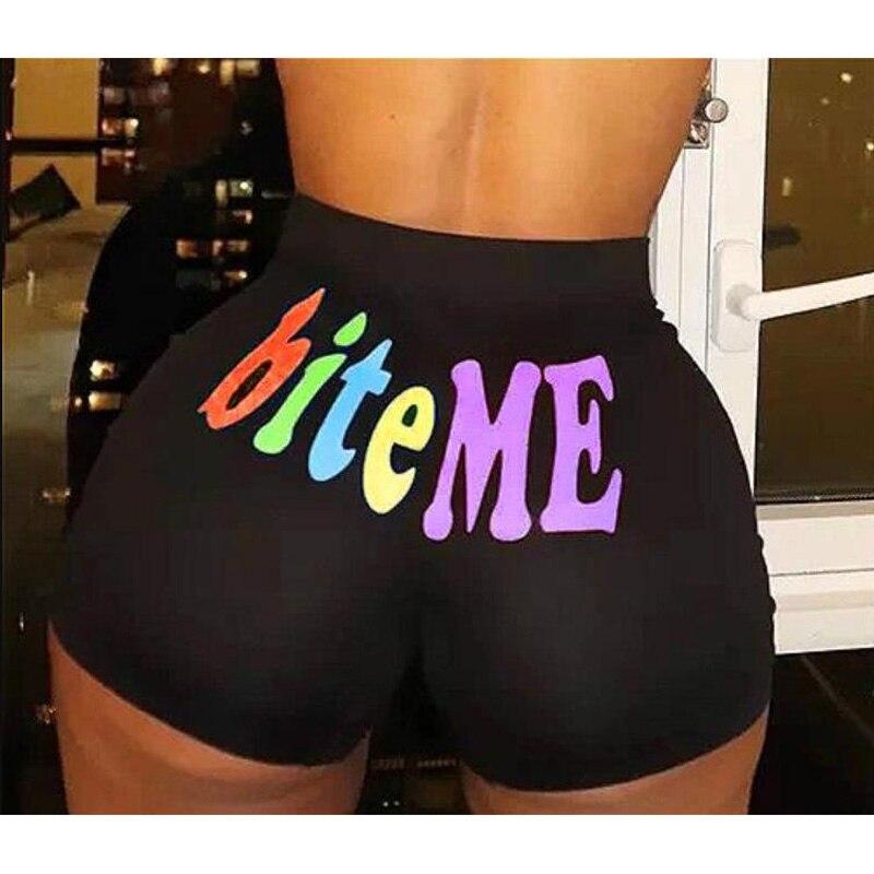 2020 Women Shorts Summer High-Waist Short Pants Fashion Letter Printed Party Club Dance Wear Sport Shorts Daily Bottom