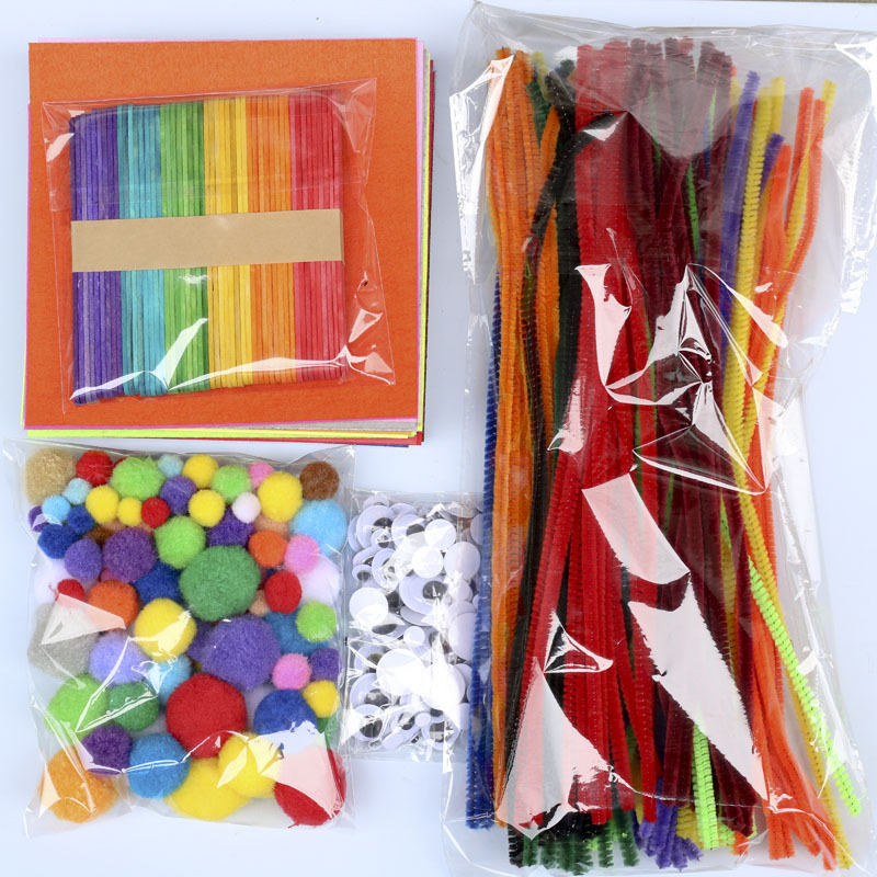 590pcs Multicolor Plush Chenille Stems Pipe Cleaners Handmade Diy Art Crafts Material Kids Creativity Handcraft Children Toys