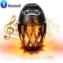 96 LED Flame Bluetooth Speaker Atmosphere Lamp led Speaker Table led wireless speaker