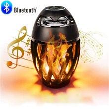 96 LED Flame Bluetooth Speaker Atmosphere Lamp led Table wireless speaker