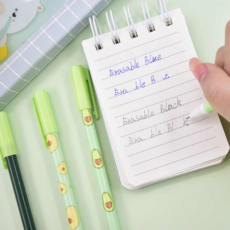 1 قطعة قلم قابل للمسح الأفوكادو لطيف Kawaii الفاكهة قابل للمسح هلام القلم الجدة قابل للغسل السحرية القلم للأطفال هدايا مدرسة مكتب القرطاسية