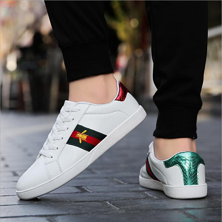 Couple bee shoes autumn fashion casual white shoes fashion wild board shoes women