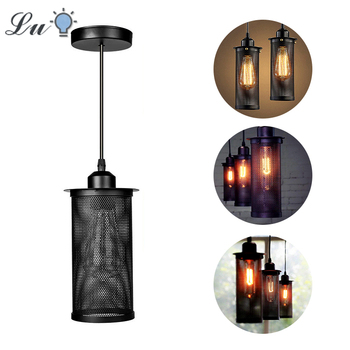 Vintage Loft LED Pendant Lights Iron Industrial Kitchen Hanging Lamp Fixtures Restaurant Coffee Indoor Lighting Pendant Lamps vintage loft led pendant lights black metal hanging lmaps pendant lamps luminaires industrial decor lighting fixtures avize