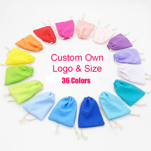 Image 2 - 50PCS Washed Velvet Pouch Jewelry Packaging Bag Cosmetic Storage Wedding Party Gift Soft Cloth Drawstring Bags Custom Logo Print