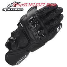 Alpinestars – gants de course en cuir de vachette S1, menotté, 2 Commandes