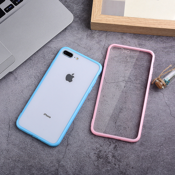 Transparent Hybrid Silicone Phone Case For iPhone X XS XR Max 8 7 6 6S Plus 11 Pro Max Hard Case Soft TPU Clear Back Cover Capa image