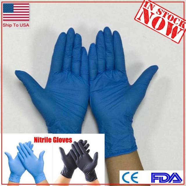 Gants en nitrile chauds 100 pièces gants jetables en Latex universels guantes desechables guantes de nettoyage nitrilo rekawiczki nitrylowe