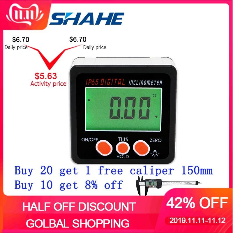 Nível digital transferidor inclinômetro medidor de ângulo de nível magnético caixa de nível localizador de ângulo digital medidor de ângulo