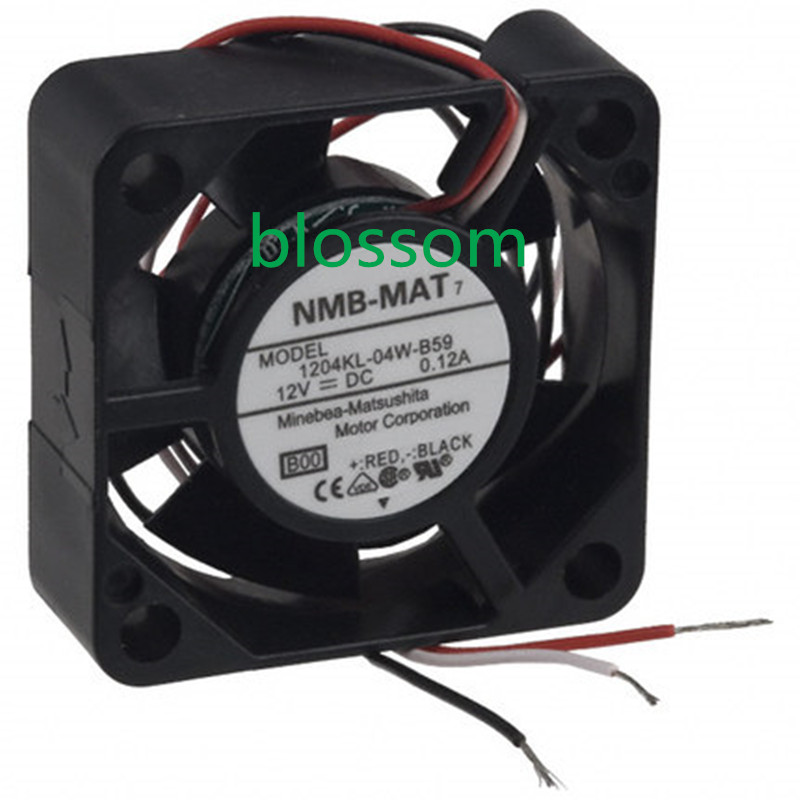 For NMB 1204KL-04W-B59 30mm x10mm Wired Router Cooler Cooling Fan 3Pin 12V 0.12A
