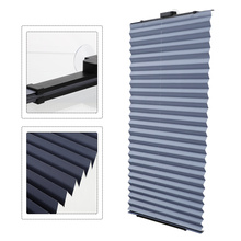 Opaque Sun Protection Blinds Punch Free Pleated Blinds Light Filtering Blinds