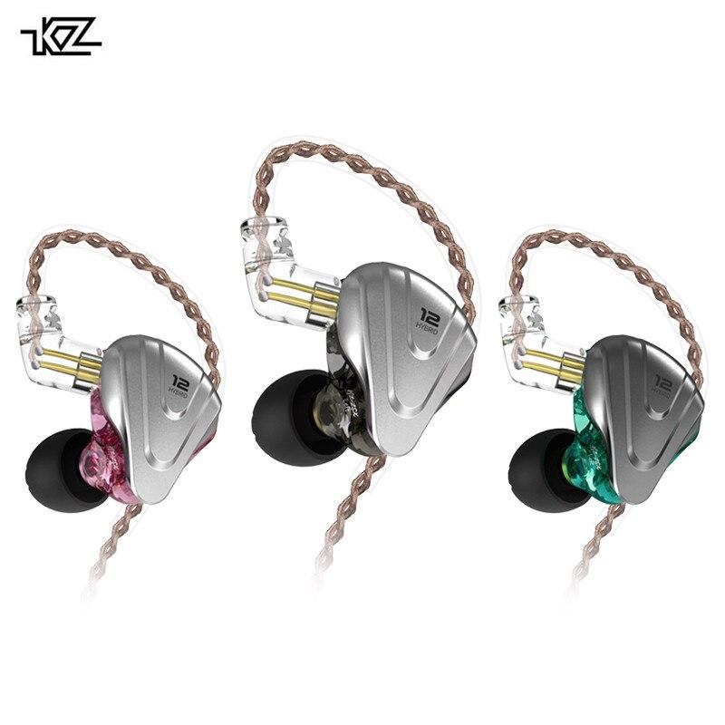 KZ ZSX Terminator casque métal 5BA + 1DD hybride 12 unités HIFI basse écouteurs dans les casques d'oreille