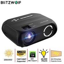 BlitzWolf BW VP11 LCD LED HD العارض الجري لاسلكية ميني بروجكتور 1280x720P 200ANSI المسرح المنزلي في الهواء الطلق العرض فيلم
