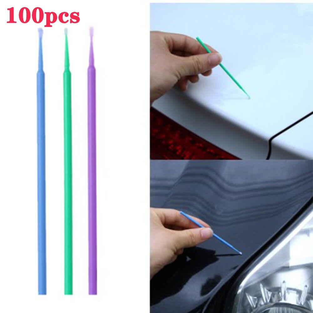 100 Paintbrush Color Pencil Disposable Q-tip Car Repair Tools For Car Paint Details Repair Paint Accessories