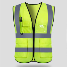 New hot Unisex Reflective Vest Workwear High Visibility Day Night Running Cycle Warning Adult Safety Vest