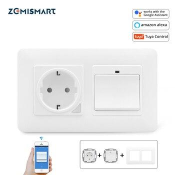 Commutateur intelligent de lumière de mur de maison de prise de l'ue de zemimart un gang Compatible avec le contrôle de Tuya de WiFi d'assistant d'alexa Google