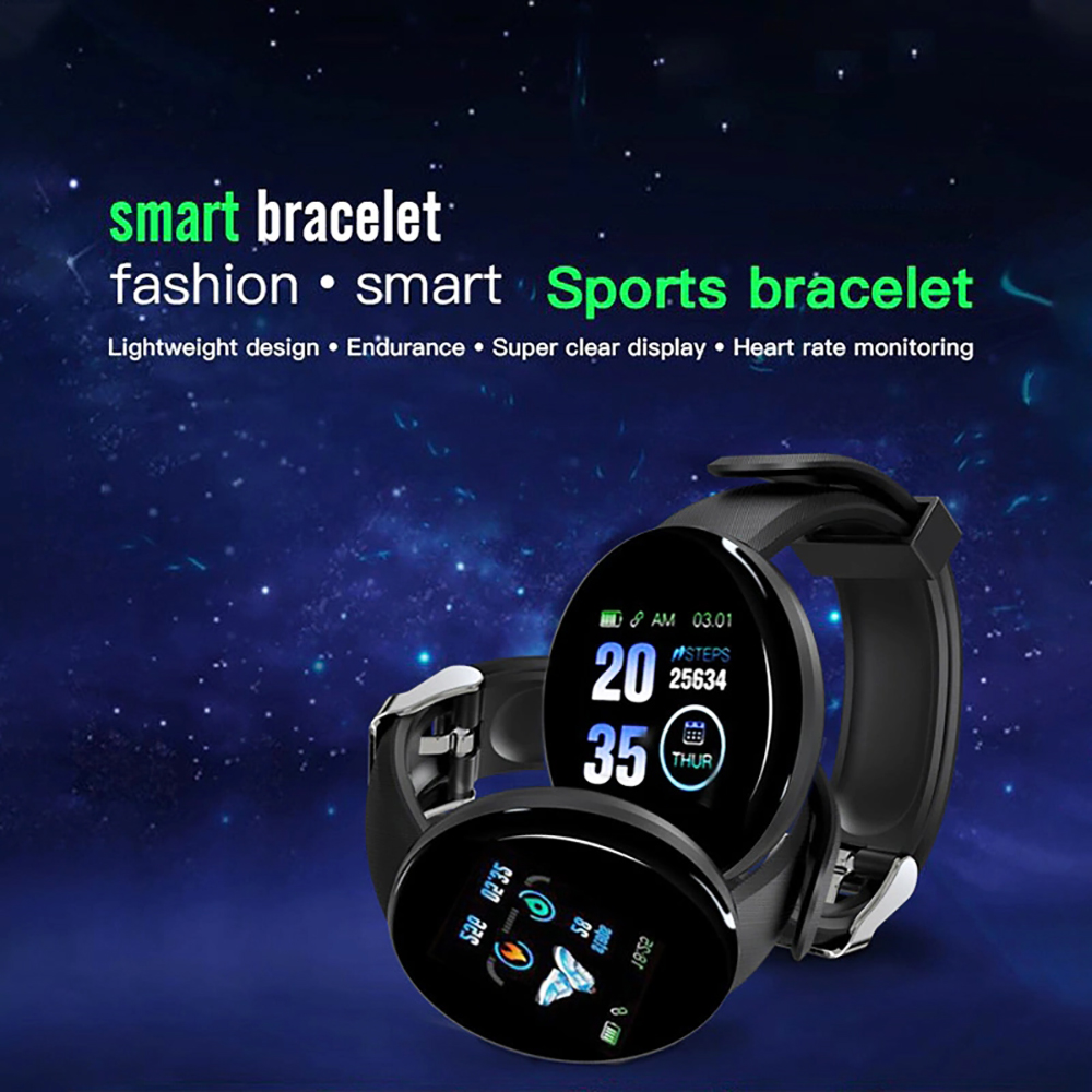 H8897e434d5104f89956fb6d82f3e32d58 Smart Watch D18 Blood Pressure Fitness Tracker Round Smartwatch Waterproof Sports Smart Watch Men Women For Android Ios Z2