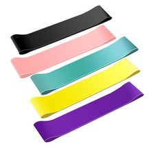 5 Pcs Resistance Loop Bands Latex Workout Bands with 5 Resistance Levels Skin-Friendly Exercise Bands with Carry Pouch(China)