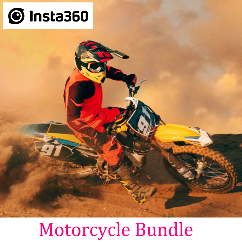 PromoteØInsta360 Action-Camera Sports-Accessories for One-X/One-R Professional Motorcycle-Bundle