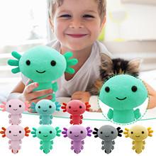 20 30cm Kawaii Axolotl pluszowe zabawki Cartoon Cute zwierząt nadziewane pluszowe lalki dla dzieci urodziny świąteczne prezenty na Halloween tanie tanio CN (pochodzenie) Tv movie postaci W wieku 0-6m 7-12m 13-24m 25-36m 4-6y 7-12y Genius Lalka pluszowa nano Miękkie i pluszowe