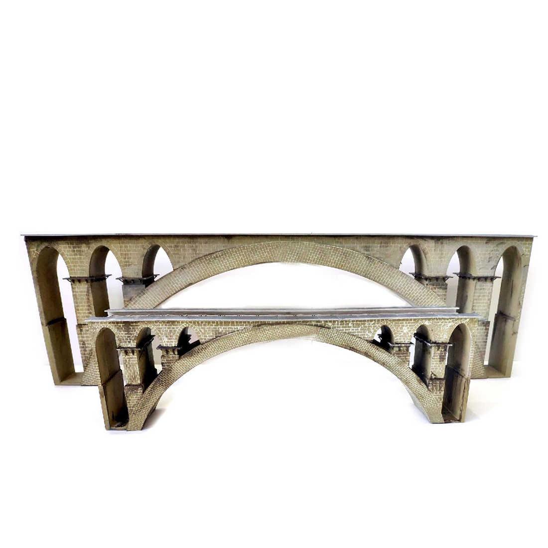 35cm 1: 87 escala de ho trem cena ferroviária decoração t41 primeira linha ponte montagem kit modelo para diy mesa de areia arquitetônica