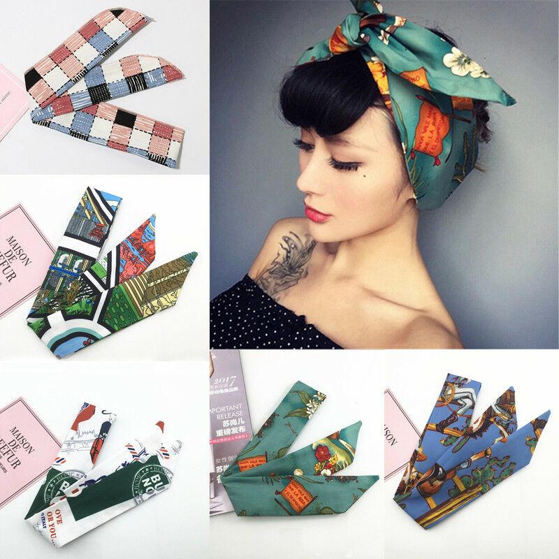 Ladies Knot Peadband Head Wrap Scarf Hair Band Retro 50´s Rockabilly Kerchief New
