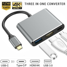 1080p hdmi type c adapter dock for nintend switch tv hdmi converter adaptor console accessories low price limit buy Type-C to USB-C USB3.0 4K HDMI 3-in-1 HDTV Adapter Converter for Macbook Android Cable Adapter Converter for HDTV 1080P HDMI