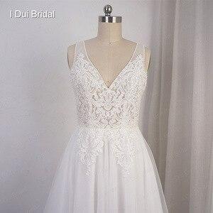 Image 4 - Свадебные платья в стиле бохо, ТРАПЕЦИЕВИДНОЕ пляжное платье невесты из тюля с изображением слоев, Прямая поставка