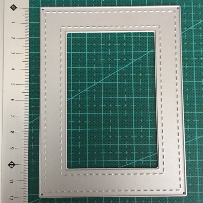 HamyHo Stitch Photo Frame Metal Cutting Dies Stencil For Scrapbooking For DIY Festival Handmade Paper Card Embossing Dies Crafts