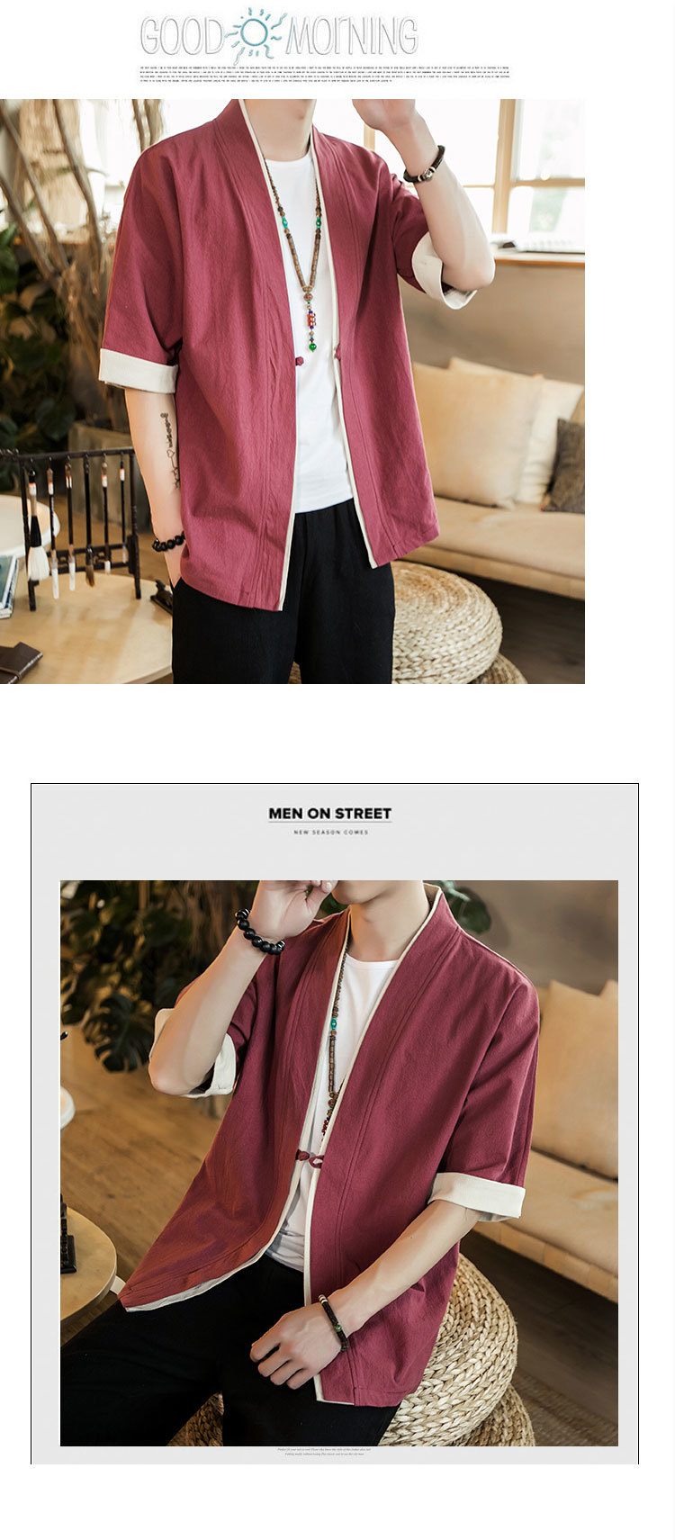 Sinicism Store Men Patchwork Shirt Streetwear Short Sleeve 19 Summer Harajuku Vintage Kimono Shirts Black Fashion Open Stitch 27